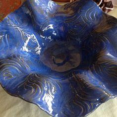 Blue green medium bowl.  $55. Item # 102