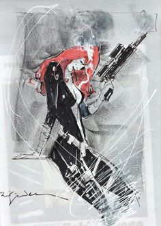 Black Widow by Bill Sienkiewicz  Auction your comics on http://www.comicbazaar.co.uk
