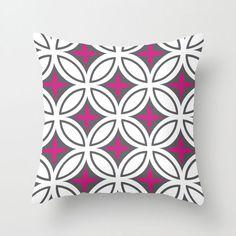 Tangier Tiles Pillow Cover in Magenta | dotandbo.com