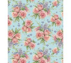M2706-F Tecido para Patchwork Roses KG12 - A partir de: - Coleção All Seasons. - Tecidos Importados - Patchwork