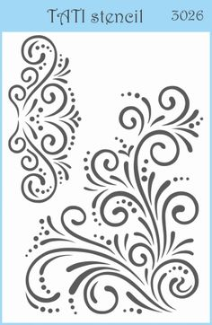 Трафарет объёмный TATI stencil 3026 Cutwork Embroidery, Embroidery Flowers Pattern, Hand Embroidery Designs, Flower Patterns, Piping Patterns, Stencil Patterns, Stencil Designs, Cricut Stencils, Free Stencils
