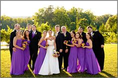 Wow I love the color of the bridesmaid dresses! And I love the brides dress:) ahhh so beautiful <3