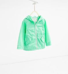 Image 1 of Raincoat with hood from Zara