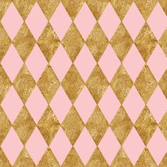 Harlequin Diamonds ~  Dauphine and Gilt Gold  fabric by peacoquettedesigns on Spoonflower - custom fabric