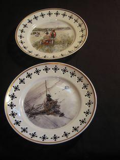 Two Bing & Grondahl/Carl Larsson Porcelain Wall Plates from Copenhagen, Denmark by DeeGeeRetro on Etsy