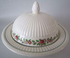1917 Antique Wedgwood England Belmar Round Covered Butter Dish HP Edme Shape | eBay