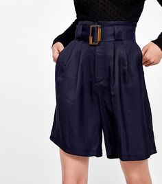 """This Summer Trend Is """"Unflattering"""", and I Couldn't Care Less Zara Shorts Mit Gürtel Zara Shorts, Topshop Shorts, Men's Shorts, Modest Shorts, Jean Shorts, Short Outfits, Summer Outfits, Summer Shorts, Shorts Longs"""