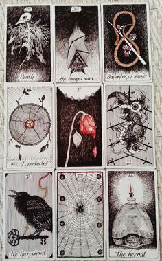 What Are Tarot Cards? Made up of no less than seventy-eight cards, each deck of Tarot cards are all the same. Tarot cards come in all sizes with all types of artwork on both the front and back, some even make their own Tarot cards Oracle Cards, Tarot Decks, Deck Of Cards, Magick, Witchcraft, Wiccan, Dark Art, Oeuvre D'art, Illustration Art