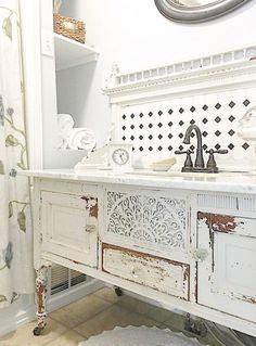 Bathroom Inspiration: Using a Dresser as a Vanity - #bathroomvanities