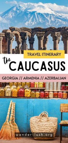 Planning an independent trip to the Caucasus Heres everything you need to design the perfect 26 week Georgia Armenia Azerbaijan itinerary including what to see what to skip and transport food and accommodation advice. Europe Destinations, Europe Travel Guide, Amazing Destinations, Asia Travel, Armenia Travel, Backpacking Asia, Best Travel Guides, Travel Inspiration, Travel Ideas