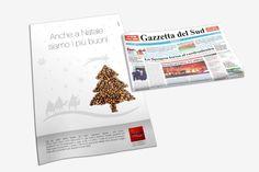 Caffè Aiello - #Advertising di Natale 2014 su pagina intera Gazzetta del Sud