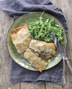 Bricks aux pleurotes et pancetta pour 4 personnes - Recettes Elle à Table