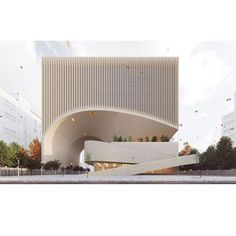 You are in the right place about facade design Here we offer you the most beautiful pictures about the facade restaurant Architecture Design, Facade Design, Concept Architecture, Futuristic Architecture, Amazing Architecture, Computer Architecture, Parametric Architecture, Architecture Models, Landscape Architecture