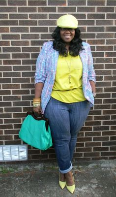 Plus Size Blogger Fashion Spotlight of The Week - PLUS Model Mag. Pepper Martin of the blog Pretty Plus Pep rocks a lovely range of springtime brights.