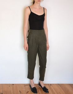 90's Benetton wool pants jacquard woven by WoodhouseStudios