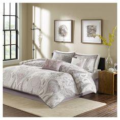 Reda Comforter Set (California King ) Purple - 7pc