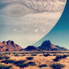 If Jupiter was the same distance away as the moon it'd look huge! #universe #space