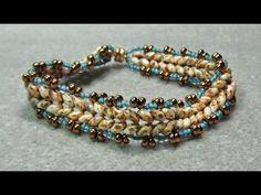 Herringbone Bracelet With Superduo Beads