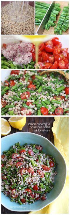 toptenlook: Lemon Asparagus Couscous Salad with Tomatoes