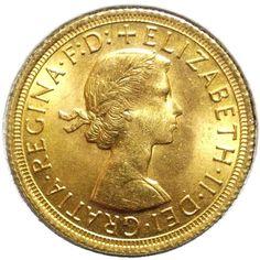 Moneda de oro Libra esterlina. Elizabeth II. Gran Bretaña 1966.