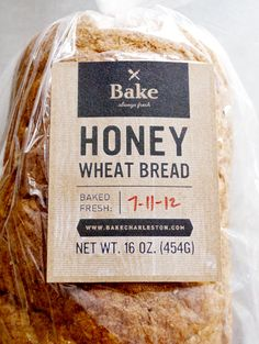 Bake printed labels on bread