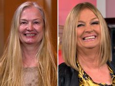 Ambush Makeover gives mom first haircut since grade.somebody should tell my mom to get a haircut. Beauty Makeover, Makeup Makeover, Mom Hairstyles, Older Women Hairstyles, Medium Hair Styles, Long Hair Styles, Makeover Before And After, First Haircut, Hair