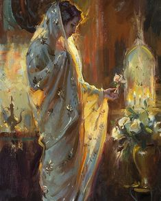 Offering by Dan Gerhartz ~ 30 x 18 Painting Inspiration, Art Inspo, Classical Art, Renaissance Art, Pretty Art, Art Plastique, Aesthetic Art, Beautiful Paintings, Romantic Paintings