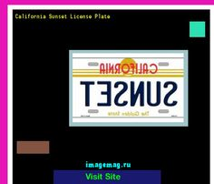 California sunset license plate 181632 - The Best Image Search