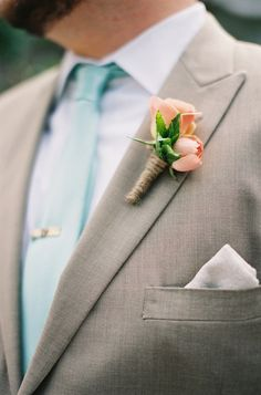 Peach and Tiffany Blue Nuptials     loren routhier photography