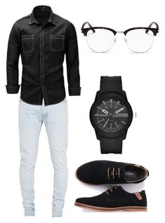 """Pai Minjae"" by larissa1012 on Polyvore featuring Fear of God, Diesel, Yves Saint Laurent, men's fashion and menswear"