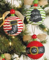 Coming this fall to SMITH's VARIETY! Chalkboard Ornaments (3 Asst) | Living | Mud Pie