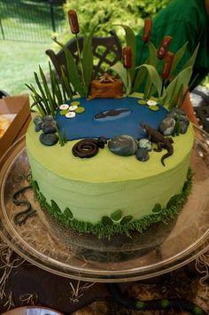 Swamp Themed Cake