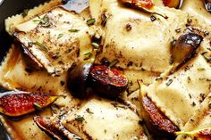 Recipe: Caramelized Figs and Ravioli with Rosemary Brown Butter & Crispy Prosciutto — Fast & Fancy 5-Ingredient Dinners