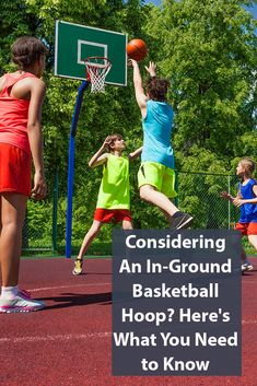 Considering An In-Ground Basketball Hoop? Here's What You Need to Know Backyard For Kids, Backyard Games, Backyard Ideas, Outdoor Games, Water Games For Kids, Indoor Activities For Kids, Family Activities, Summer Fun List, Summer Kids