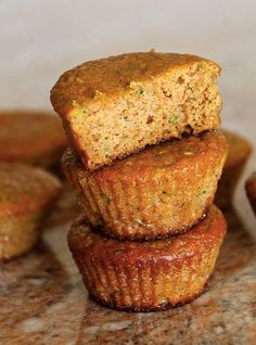 Coconut Flour Carrot Zucchini Muffins! Healthy and Paleo-friendly