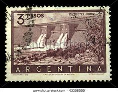 Argentina postage stamps | stock photo : ARGENTINA - CIRCA 1950s: A stamp printed in Argentina ...