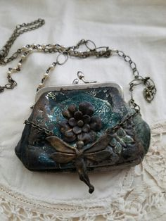 Vintage coin purse necklace