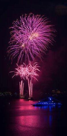Fireworks in Kiel, Germany.