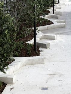 concrete urban bench
