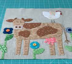 Animal Sewing Bee In My Bonnet: Farm Sweet Farm Sew Along - Bee Prepared! Small Quilts, Mini Quilts, Baby Quilts, Scrappy Quilts, Farm Animal Quilt, Farm Quilt, Baby Applique, Applique Quilts, Quilting Projects