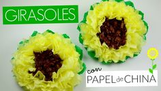 Girasoles con Papel de China│Espacio Creativo