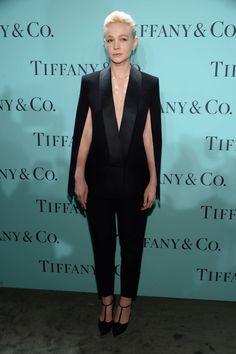 8c57a66228b Carey Mulligan, Azul Tiffany, Tiffany Blue, Tiffany Party, Tuxedo Suit,  Black