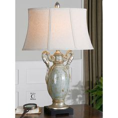 Uttermost Francavilla Crackle Blue Table Lamp 27413