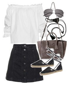 """""""Untitled #19686"""" by florencia95 ❤ liked on Polyvore featuring Lanvin, Topshop, Isolda, Prada, Circus By Sam Edelman and Yves Saint Laurent"""