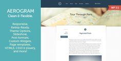 Aerogram - Responsive Retina-Ready WordPress Theme - Personal Blog / Magazine #wordpress #wordpressthemes #wordpresstips