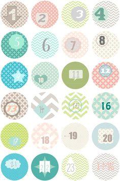Advent Calendar Numbers - Advent Calendar Numbers Stickers Sticker - a Desi . Advent Calenders, Diy Advent Calendar, Christmas Holidays, Christmas Crafts, Xmas, Alphabet And Numbers, Free Prints, Christmas Printables, Christmas Inspiration