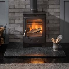 Solution 5 Compact (S4) Small Space Living, Living Spaces, Solid Fuel Stove, Wood Fuel, Cast Iron Fireplace, Compact, Home Appliances, Products, House Appliances