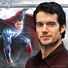 Henry Cavill - Man of Steel. Background picture belongs to Warren Manser (www.warrenmanser.com).