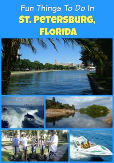Fun things to do in St. Petersburg, Florida on vacation - Cruises,  dolphin watching, Snorkeling, Speedboat, Historical Segway Tour, Boyd Hill Nature Preserve, Chihuly Collection and more activities and attractions