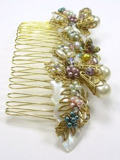 Saskia Heirloom Comb  Vintage Glamour for A by SLCDesignsUK, $110.00